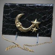 Vintage Glenn Miller for Ann Turk Embossed Handbag with Celestial Theme