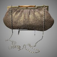 Vintage Knit Clutch/Handbag with Lucite Clasp