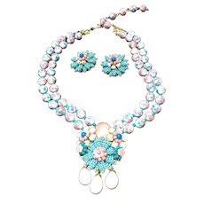 Vintage Ian St. Gielar for Stanley Hagler Demi Parure:  Necklace and Earrings