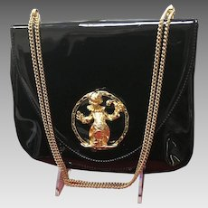 "Vintage Funky ""Clown"" Patent Leather Handbag by Morris Moskowitz"