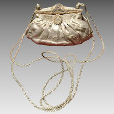 """Vintage """"Revivals"""" Evening Purse with Ornate Beaded Frame  *NWT*"""