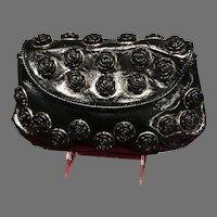 "Vintage Betsey Johnson Funky ""Patent"" Handbag with Feminine Embellishments"
