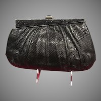 Vintage Leiber Snakeskin Purse with Swarovski Crystals