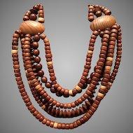 Vintage Gerda Lynggard/Monies Multi Strand Necklace ***Signed***