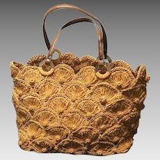 Vintage Jamin Puech Raffia Handbag
