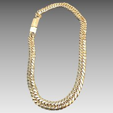 Vintage Lagerfeld Heavy and Chunky Gold Tone Necklace