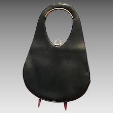 Vintage French Sculptural Leather Handbag