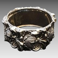 "Vintage Whiting and Davis  ""Thistle"" Clamper Bracelet"