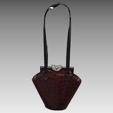 Vintage Glenn Miller for Ann Turk Huge Handbag with Ornate Clasp