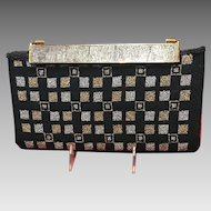 Vintage Berger Handbag/Purse with Detailed Engraved Clasp