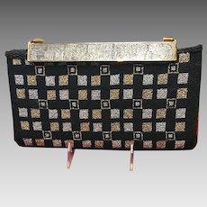 Vintage Berger Handbag/Purse with Detailed Engraved Clasp