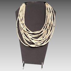Vintage Gerda Lynggaard/Monies Multi Strand Necklace with Horn Closure