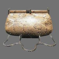 "Vintage Leiber ""Glitter"" Python Snakeskin Bag"