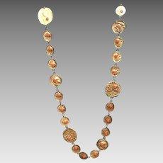"""Vintage Rader Statement """"Coin"""" Necklace"""