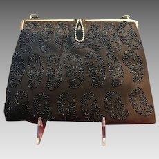 Vintage Tano Suede Handbag with Beading