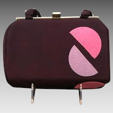 "Vintage ""Funky"" Geometric Purple Handbag"