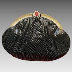 Vintage Leiber Python Handbag with Intalgio Clasp