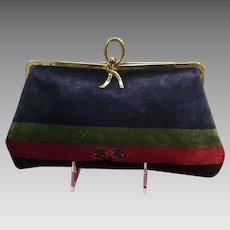 Vintage Roberta Di Camerino Velvet Clutch