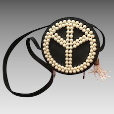 Vintage Moschino Peace Faux Pearl Bag
