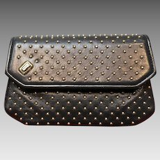 Vintage Judith Leiber Navy Bag with Studs