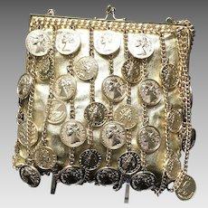 Vintage Walborg Shoulder Bag with Dangling Coins