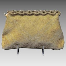 Vintage Walborg French Steel Beaded Purse with Ornate Frame