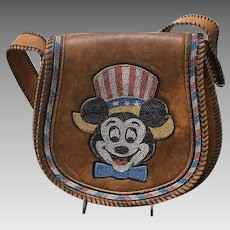 "VIntage Patriotic ""Mickey Mouse"" Shoulder Bag"