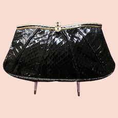 Vintage Leiber Python Purse with Jeweled Clasp