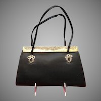 Vintage Leiber Silk Evening Purse with Swarovski Crystals