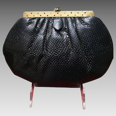Vintage Leiber Karung Lizard Purse with Jeweled Frame