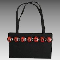 Vintage Lorren Bell Silk Purse with Ladybug's