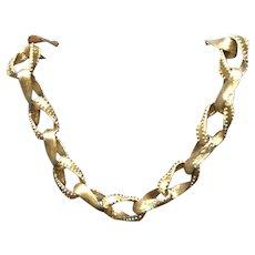 "Vintage Natori ""Ribbon"" Choker Necklace"