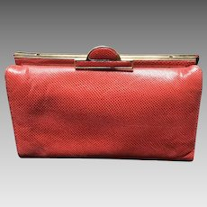 VIntage Judith Leiber Red Karung Purse