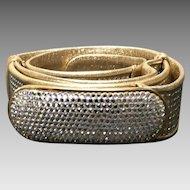 Vintage Judith Leiber Leather Belt with Swarovski Crystals
