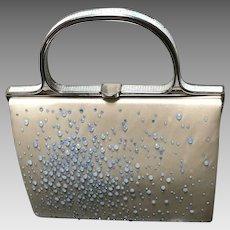 Vintage Judith Leiber Silk Handbag with Swarovski Crystals