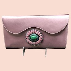 Vintage Renaud Pellegrino Silk Clutch with Outrageous Ornamentation