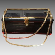 Vintage Leiber Unusual Smokey Lucite Purse