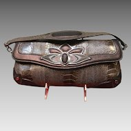 Vintage Leiber Crocodile/Leather Handbag/Clutch with Ornamentation