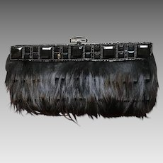 Vintage Leiber Outrageous Feather and Jeweled Purse