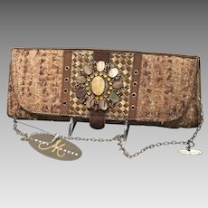 Vintage Mary Frances Baguette Purse with Jeweled Ornamentation NWT