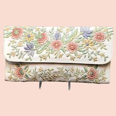 "Vintage ""Marheta"" Clutch purse with Embroidery"
