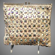 Vintage Delill Jeweled Evening Purse with Rhinestone Frame