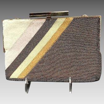Vintage Pierre Cardin Beaded Handbag with Deco Clasp