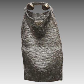 Vintage Prada Silver Metallic Net Bag *NEW OLD STOCK*