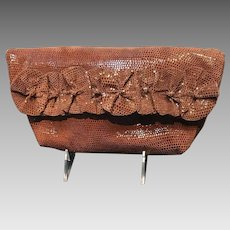 Vintage Anthony Luciano Clutch with Ruffles