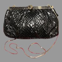 Vintage Leiber Python Classic Purse with Decorative Frame
