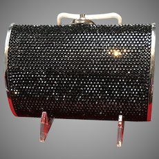 Vintage Leiber Minaudiere with Shimmering Black Swarovski Crystals