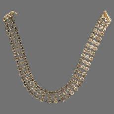 Vintage DeLillo Rhinestone Choker Necklace