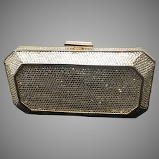 Vintage Leiber Minaudiere with Swarovski Crystals and Jeweled Clasp
