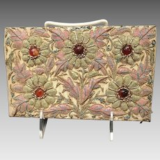 Vintage Zardozi Embroidered Clutch Louise Fontaine